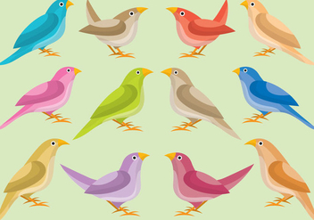 Colorful Nightingale - vector #425271 gratis