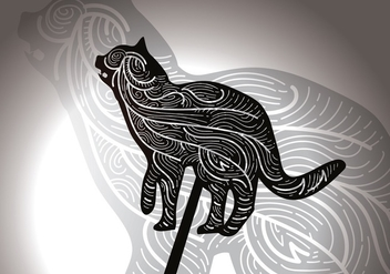 Free Cat Shadow Puppet Vector Illustration - vector gratuit #425341