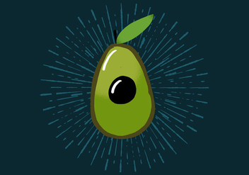 Radiant Avocado - vector gratuit #425411