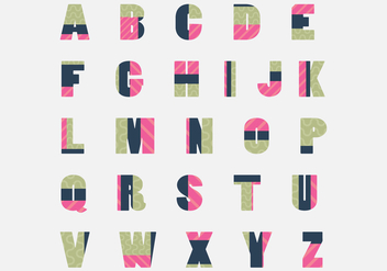 Trendy Patchwork Letras Vector Pack - бесплатный vector #425481