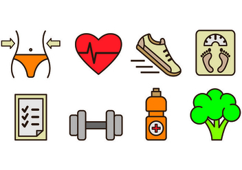 Icons Of Slimming and Health - Free vector #425491