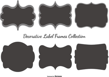 Blank Label Frames Collection - vector gratuit #425651