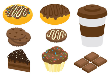 Free Chocolate Icons Vector - бесплатный vector #425661