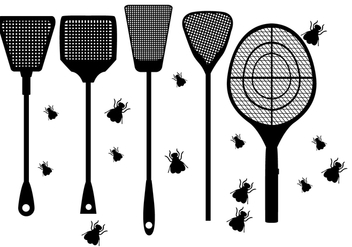 Fly Swatter Shape Vectors - Free vector #425681