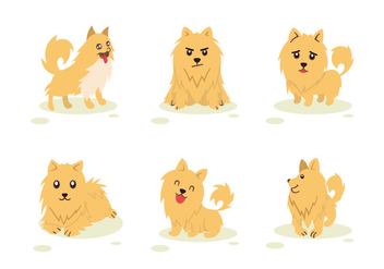Pomeranian Dog Character Pose Vector - Kostenloses vector #425691