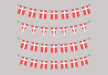 Garlands Of Danish Flags - Kostenloses vector #425731