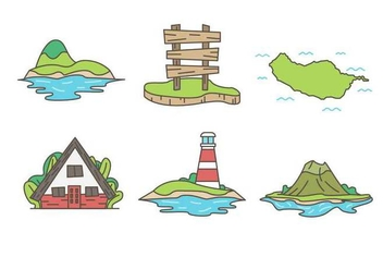 Free Unique Island Vectors - бесплатный vector #425791