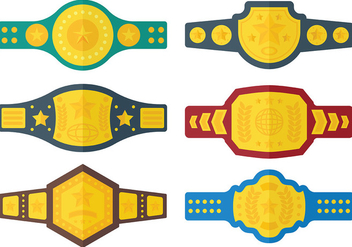Free Championship Belt Icons Vector - Kostenloses vector #425811