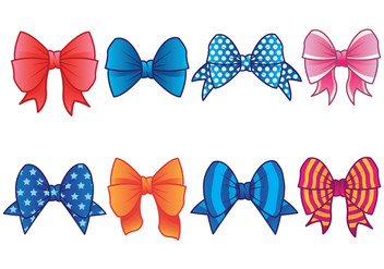 Hair Ribbon Vector Icons - Free vector #425821