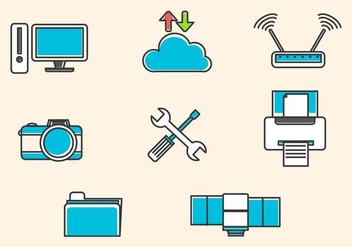 Flat Technology Vectors - Free vector #425911
