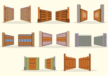 Open Gate Vector Pack - vector gratuit #425921