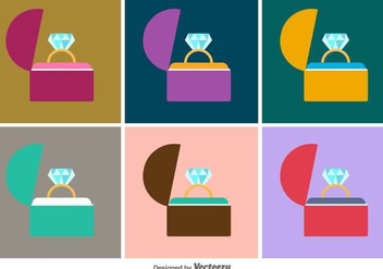 Ring Box Vector Icons - vector gratuit #425931