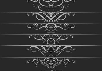 Ornamental Dividers Vector - vector #425951 gratis