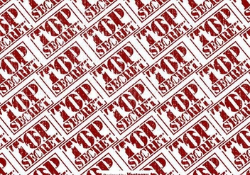 Vector Top Secret Stamp Seamless Pattern - бесплатный vector #425971