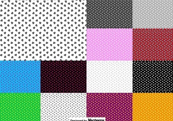 Vector Set Of Heart Seamless Pattern - Free vector #425991