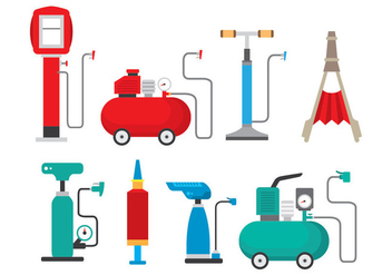 Bright Air Pump Icons - vector #426001 gratis