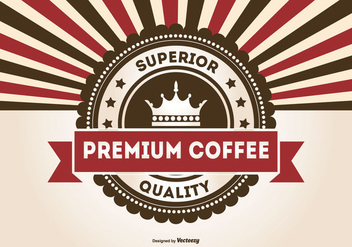 Retro Promotional Premium Coffee Illustration - vector gratuit #426031