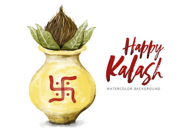 Free Kalash Watercolor Vector - Free vector #426051