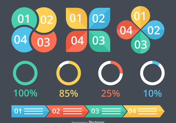Free Vector Infographic Elements - Kostenloses vector #426061