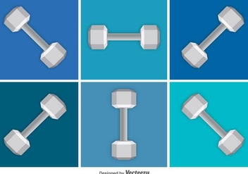 Dumbbell Vector Icons - Free vector #426071