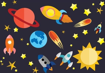 Free Flat Space Vector Illustration - vector #426151 gratis