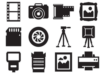 Free Photography and Camera Icons Vector - vector #426171 gratis