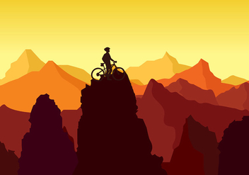 Bike Trail Peak Rock Free Vector - бесплатный vector #426181