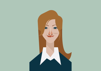 Headshot of Smiling Beautiful Employee Vector - vector #426191 gratis
