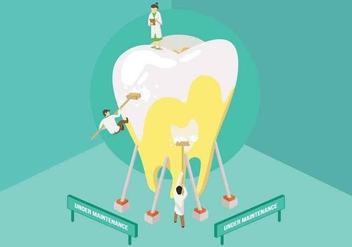 Free Dentist Cleaning Tooth Illustration - vector gratuit #426221