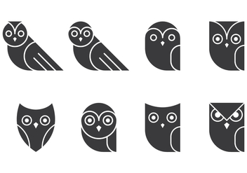 Owl Glyphs Collections - Kostenloses vector #426301