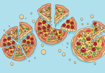 Pizza Vectors - vector #426341 gratis