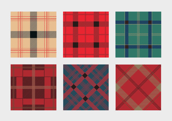 Colorful Flannel Pattern Vector - Free vector #426371
