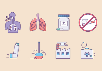 Asthma Symptoms Icon Set - Kostenloses vector #426411