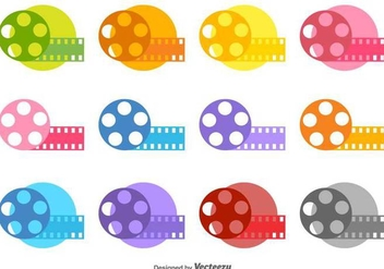 Film Canister Vector Color Icons - бесплатный vector #426511