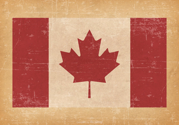 Canadian Flag On Grunge Background - Free vector #426551