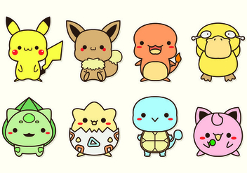 Set Of Pokemon Icons - Kostenloses vector #426561