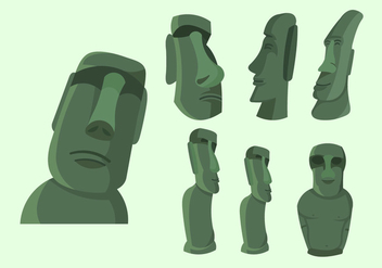 Easter Island Statue Illustration Vector - Free vector #426611