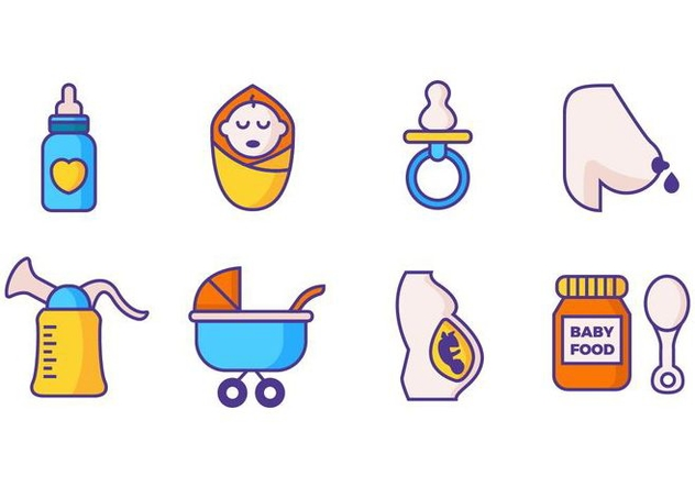 Free Maternity Icons Line Style Vector - vector gratuit #426641