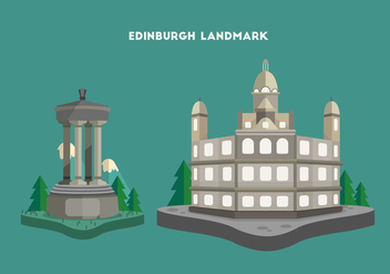 Edinburgh Landmark Vector Illustration - бесплатный vector #426651