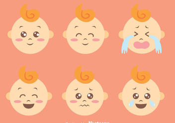 Flat CUte Baby Expression Vectors - бесплатный vector #426791