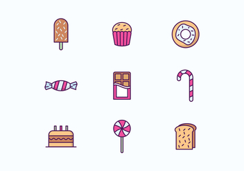 Sweets and Cakes Icon Set - Free vector #426851