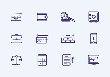 Outline Finance Icon - vector gratuit #426861