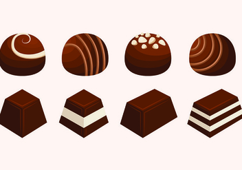 Set Of Chocolate Vectors - vector gratuit #426871
