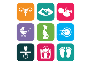 Maternity Vector Icons - vector gratuit #426881