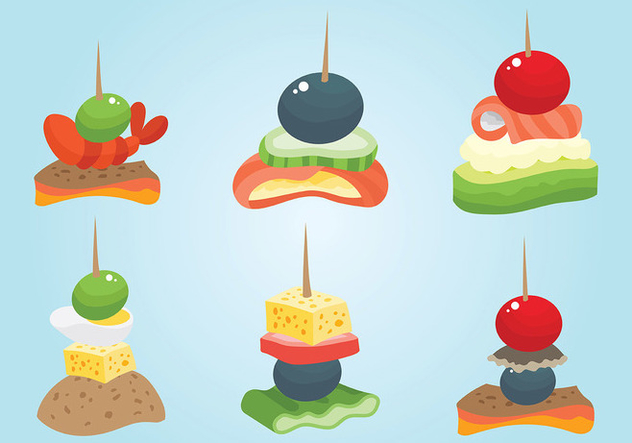 Free Canapes Icons Vector - vector gratuit #427081