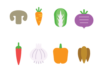 Vegetables Icon Vector - Kostenloses vector #427111