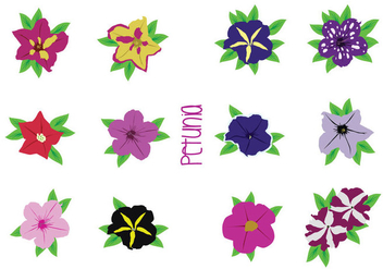 Bright Flower Vectors - Free vector #427201