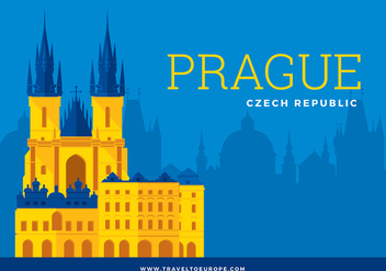 Free Prague Template Vector - vector gratuit #427251