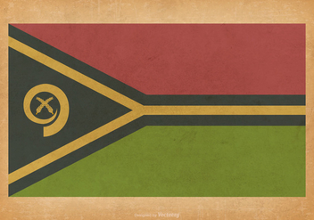 Vanuatu Flag on Grunge Background - vector gratuit #427291