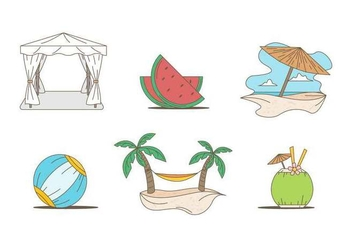 Free Outstanding Beach Holiday Vectors - бесплатный vector #427311